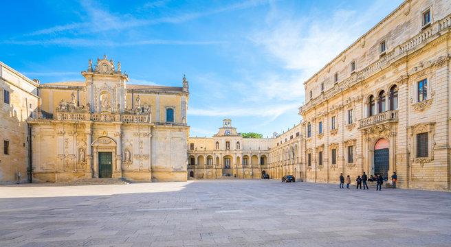 Duomo Square in Lecce, Puglia, southern Italy.