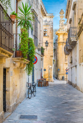 A sunny afternoon in Lecce, Puglia, southern Italy.