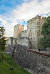 Castle of St. George in Lisbon, Portugal.