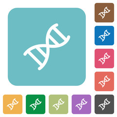 DNA molecule rounded square flat icons