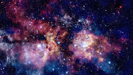 Giant glowing nebula. Space background. Elements of this image furnished by NASA