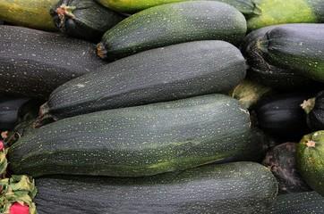 green zucchinies as tasty vegetable