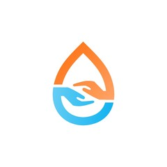 abstract hand logo