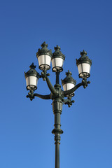 Charming traditional street lamp, Monte Carlo, Monaco