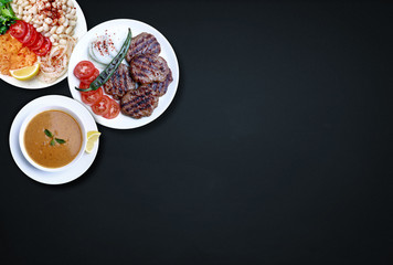 Piyaz is a kind of Turkish salad or meze. Kofte is one of the important dishes of Turkish cuisine.