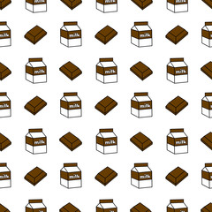 Chocolate Milk Seamless Pattern
