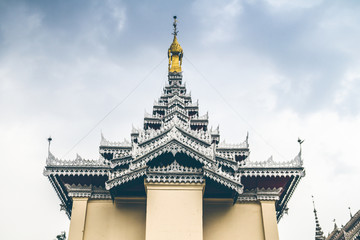Ancient Pagoda Statue / Kyainge Tong, Myanmar - March 10: Ancient Pagoda Statue In Side Temple Is A Popular Tourists Attraction On March 10, 2017 In Kyainge Tong Myanmar.
