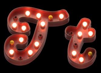 Retro sign light font