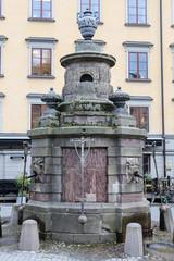 Well in Stortorget Place, Stockholm, Sweden