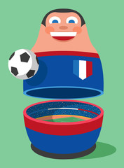 France soccer russian nesting doll