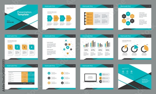 page layout design with info graphic element template for