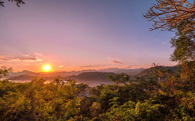 Sunset in Luang Prabang, Laos