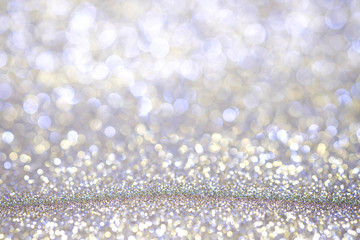 Abstract Christmas twinkled bright background with bokeh defocused lights . Lights Festive background concept.