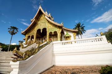 Luang Prabang, Laos - October 20, 2017: Royal Palace Museum of Luang Prabang city in Laos (The Royal Palace Museum)