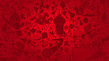 Russian red wallpaper, vector illustration