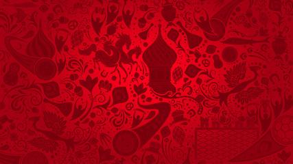Russian red wallpaper, vector illustration
