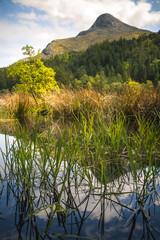 Looking across Glencoe Lochan towards Beinn a'Bheithir, one of the many mountains in the Scottish Highlands