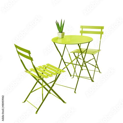 Salon de jardin vert anis\