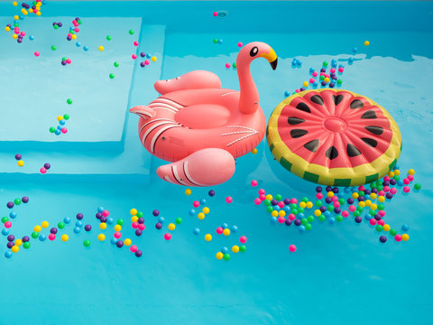 Pool Floaties colorful