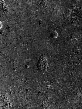 look like footprint on the moon