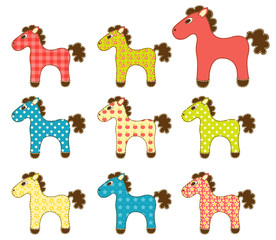 Set of patchwork horses 4.
