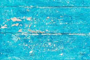 Old  beach wood background - Shabby  vintage blue color wooden textured planks. Rustic  surface with old natural pattern