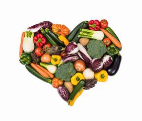 Heart of fresh vegetables