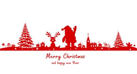 Weihnachten Silhouette