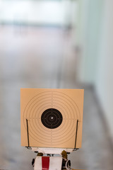 Bullseye,Target made of Paper, with hole in the center, ten points