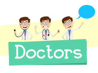 Doctors Concepts and Banner Vector