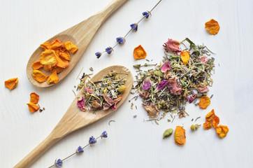 herbal flowers tea