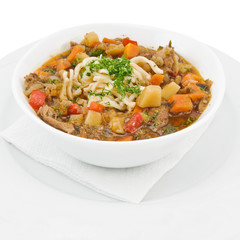 Portion of lagman soup
