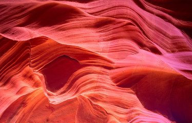 Photo on textile frame Red Antelope canyon