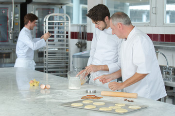 cooking class culinary bakery food and people concept