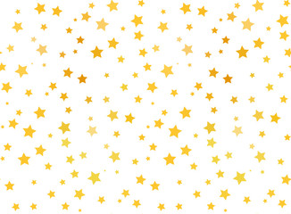 Golden stars on white background, seamless pattern
