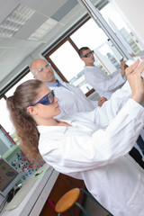 medical research students at the university