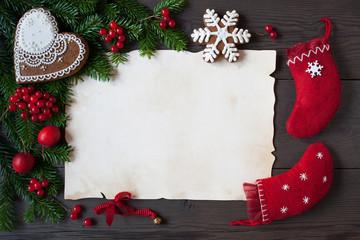 christmas letter background