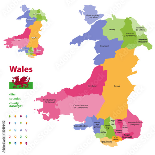 Wales Provinces Map Image Collections Diagram Writing