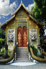 buddhist temple in Chiang mai , Thailand
