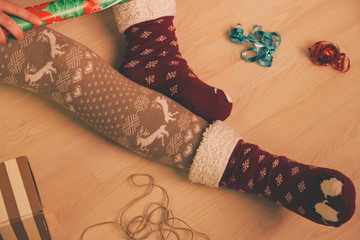 Christmas Preparations Closeup