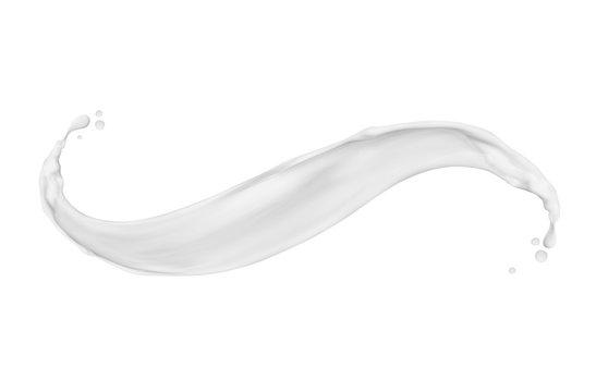 Splash of milk or cream isolated on white background
