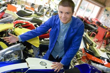 a motorbike shop