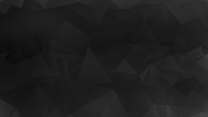 Polygonal Background, Triangle Texture, Polygonal Wallpaper, Low Poly bg, Poly Texture Web Backdrop Illustration Dark Black