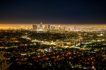 Los Angeles LA City Night view from Griffith Observatory