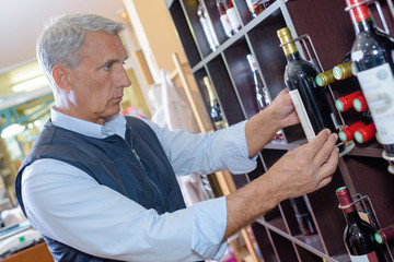 buying wine in the shop