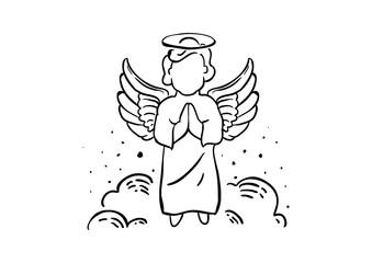Praying Angel Illustration