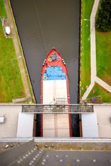 ship lift steel construction Niederfinow