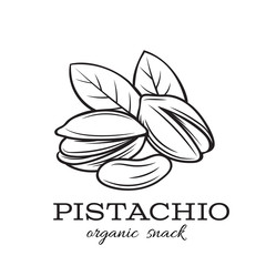 hand drawn pistachio nuts