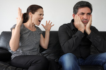 Nagging wife complains to her husband