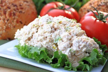 Chicken salad read to eat